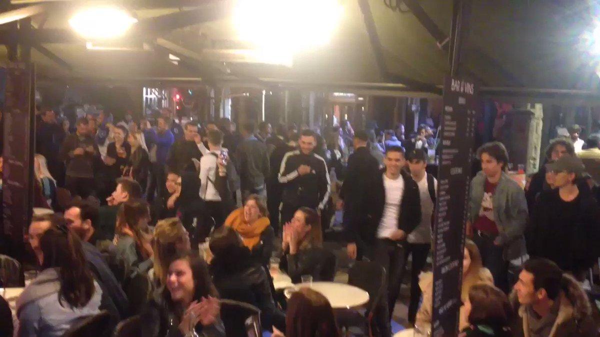 """""""Et 1, et 2, et 3-0"""" """"Et ils sont où les #Marseillais"""" Cette rue de #Lyon était assurément pour... @AtletiFR ce soir ! #OLAtletico #UELfinal  - FestivalFocus"""