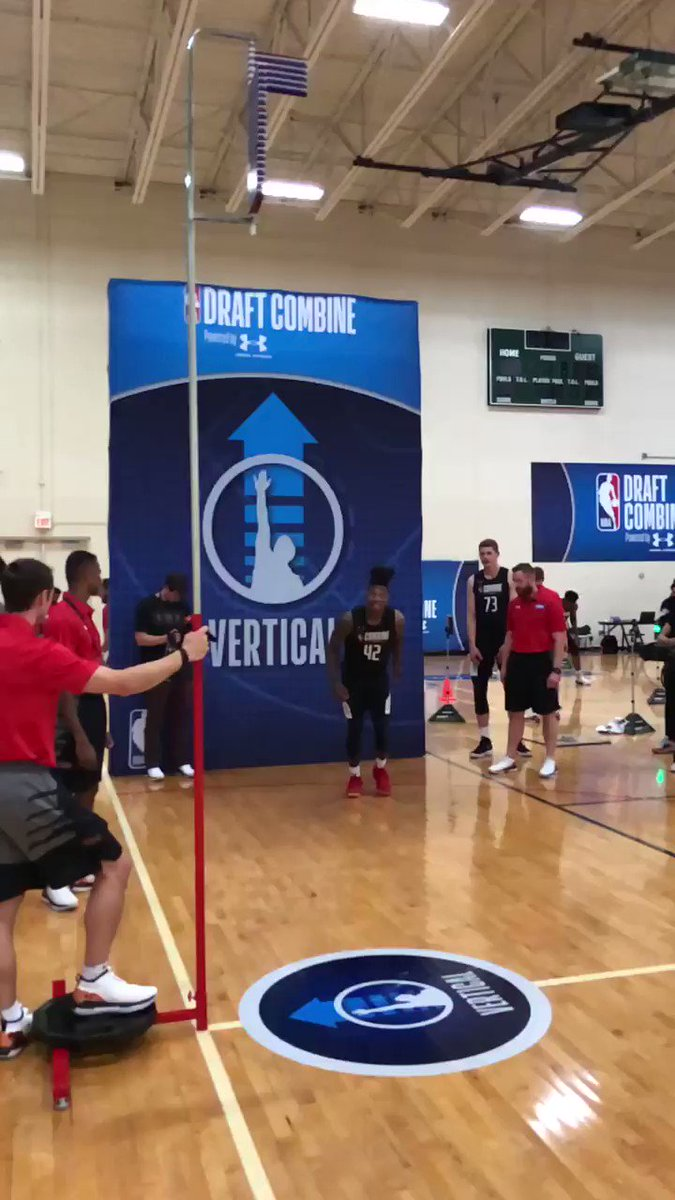 .@lonniewalker_4 (@CanesHoops) took OFF at the #NBACombine!  📺: ESPN 2