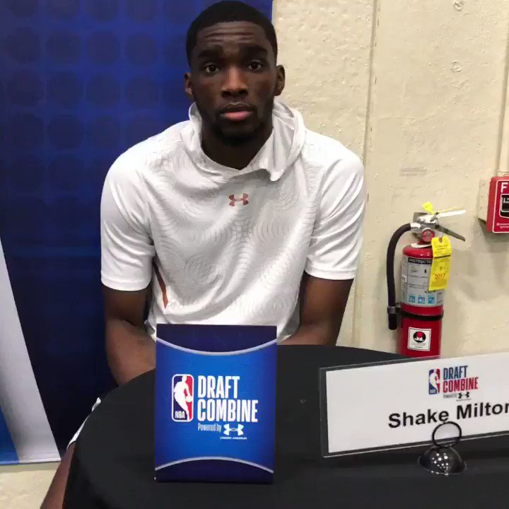 .@SniperShake (@SMUBasketball) on his experience at the #NBACombine.