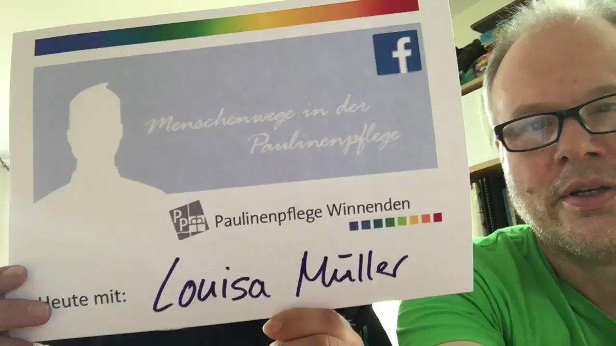 Image for the Tweet beginning: Als #Heilerziehungspflegerin ist Louisa Müller