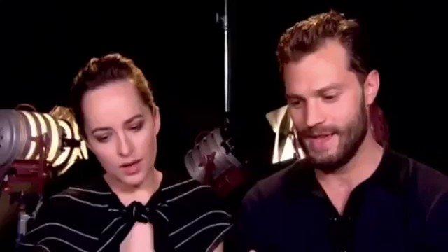 RT @bestpostsdamie: Dakota Johnson and Jamie Dornan answer fan questions. https://t.co/998uMBqaPf