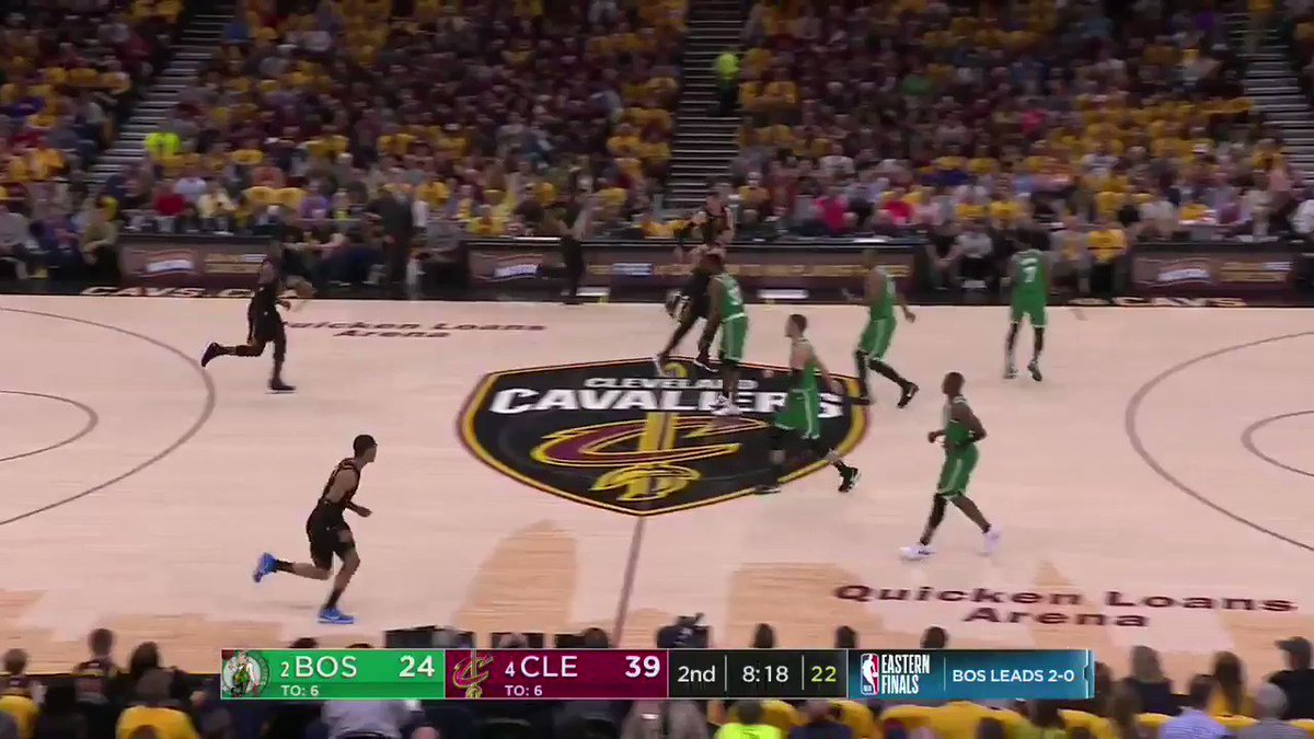 LeBron misses the wide open dunk, demands foul from the ref, gets two shots