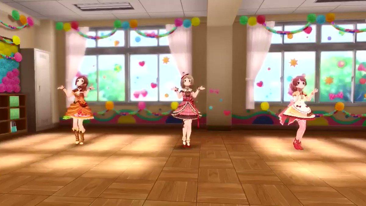 恒常かな子みちる法子を踊らせると本当に可愛い 衣装も可愛いしとても美味しそう🥖🍰🍩