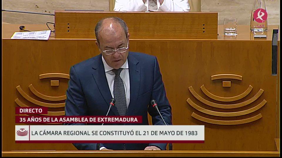 #35AñosAsamblea   José Antonio Monago, expresidente de la @Junta_Ex :