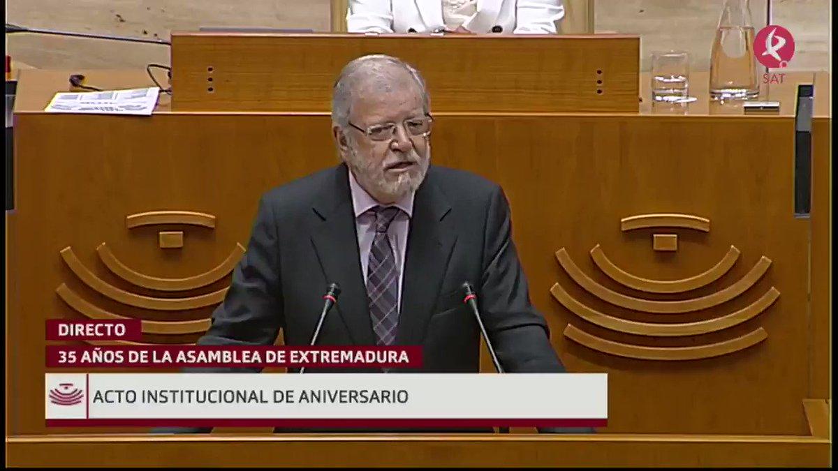 #35AñosAsamblea   Interviene Juan Carlos Rodríguez Ibarra (@fundceri):