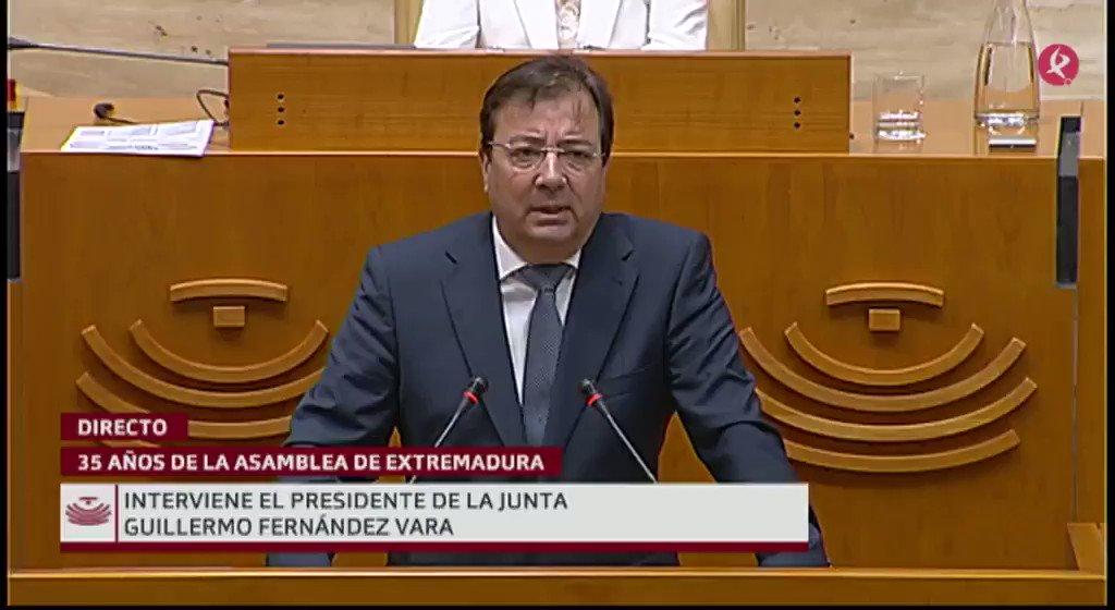 #35AñosAsamblea   Interviene Guillermo Fernández Vara (@GFVara):