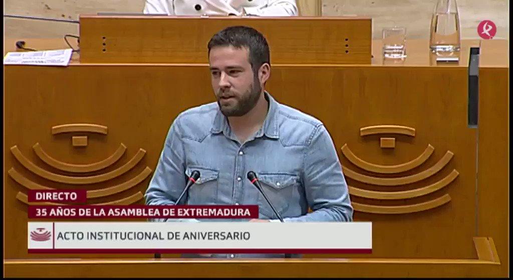 #35AñosAsamblea   Interviene Daniel Hierro (@Danihife), diputado de @Podemos_EXT: