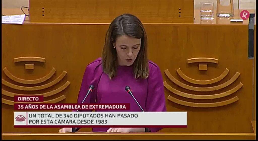 #35AñosAsamblea   Interviene Gema Cortés (@Gema_Cortes), diputada de @ppextremadura: