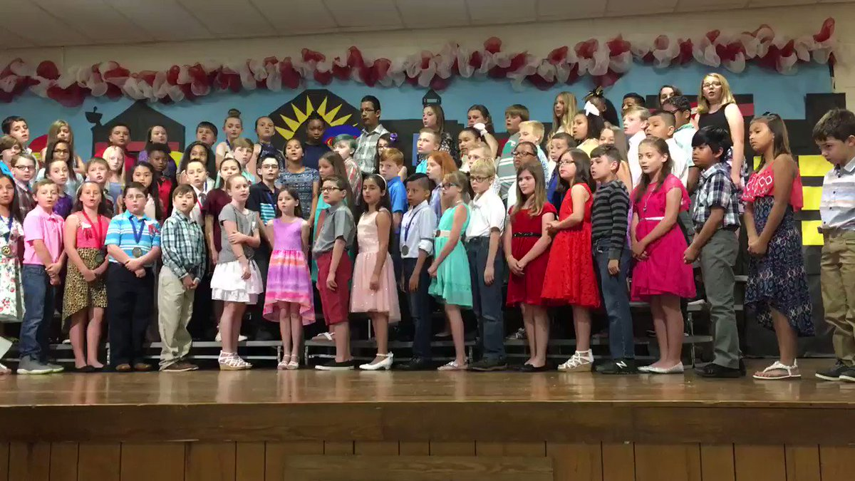Don't ever give up! 4th grade graduation!