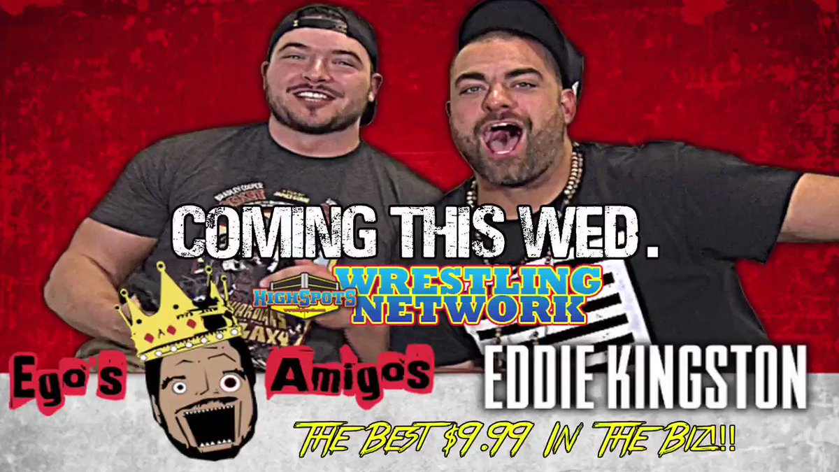 This we week we debut a new show, with a brand new host, @OfficialEGO!   He wanted his first guest to be special so he chose the biggest shit talker he could find...@MadKing1981!   Welcome #EgosAmigos to the #HSWN!!!   HighspotsWrestlingNetwork.com @Highspots