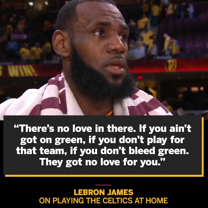 LeBron knows there will be no love for the Cavs back at the Garden. https://t.co/bZ4kx4cXzr