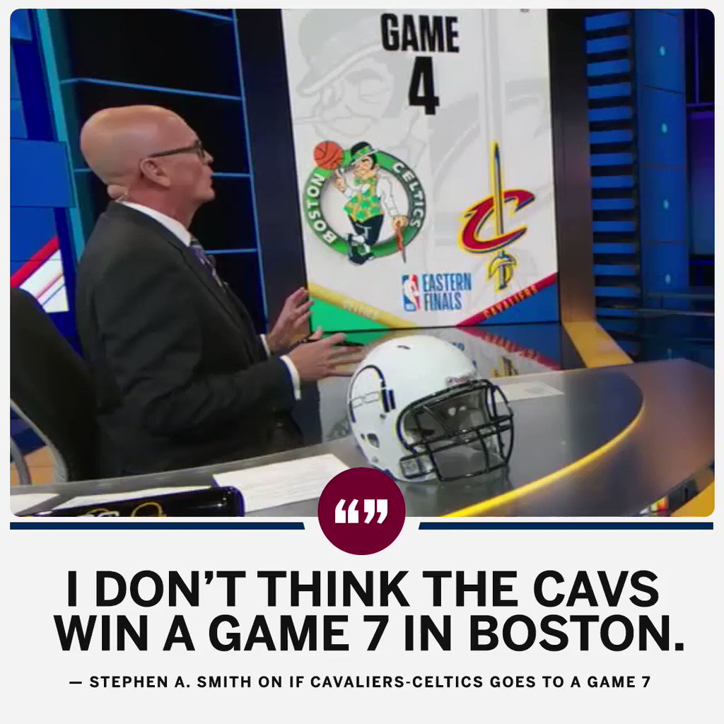 .@stephenasmith doesn't see the Cavs stealing a Game 7 in Boston. https://t.co/zi3fRlOJwp