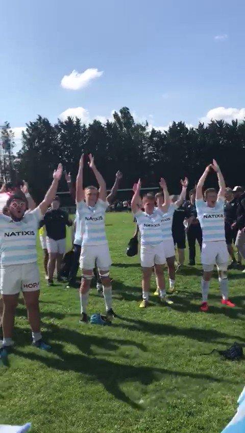 Direction la finale pour les Alamercery !  ️ Dans un match haletant, les Ciel et Blanc ont gagné face à Lyon en demie (14-13), ils affronteront @agen_rugby en finale dimanche 27/05 à 15h !  Découvrez