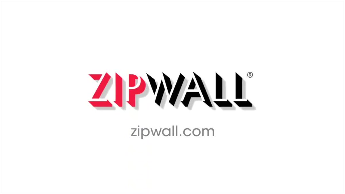 Image for the Tweet beginning: ZipWall® Dust Barrier System –
