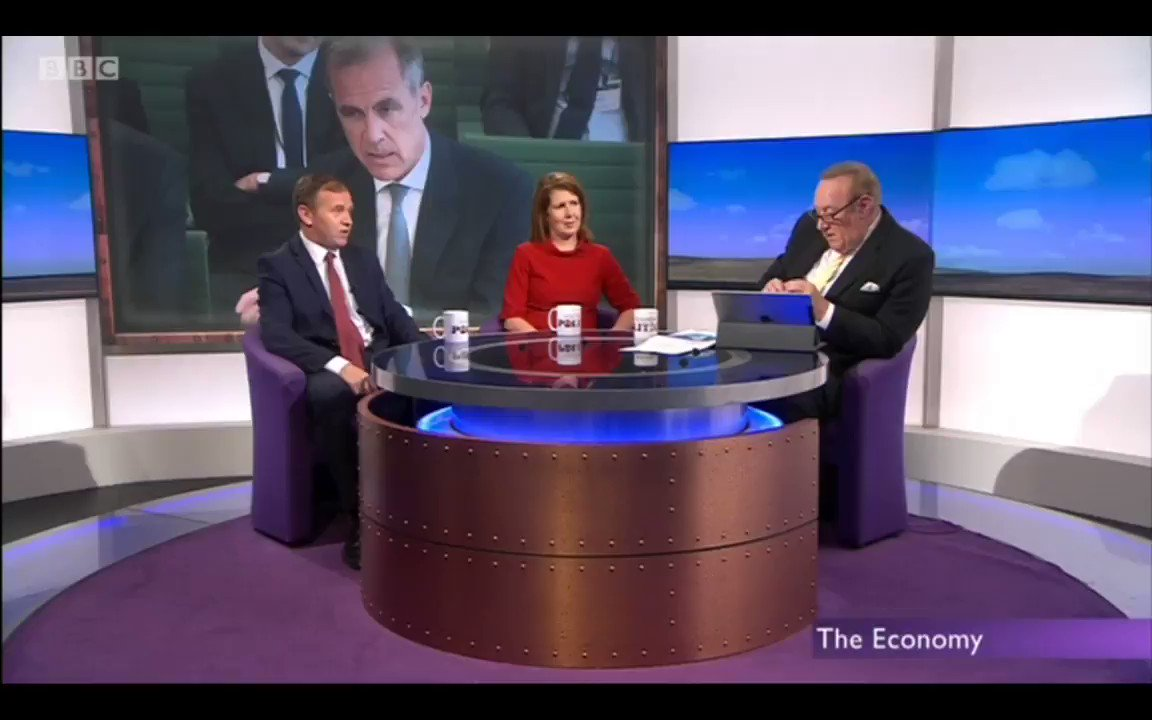 Andrew Neil - Mark Carney said the economy is about £40billion smaller than it would have been without #Brexit.. which amounts to £15billion in lost tax revenue.. how much is that a week? George Eustice - I dont know @afneil - Its £300million a week. #FBPE #bbcdp #PMQs