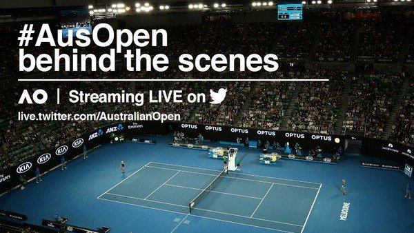 #AusOpen behind the scenes on FREECABLE TV