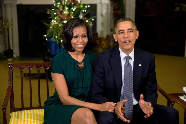 Barack and Michelle wish you a Merry Christmas and Happy Holidays: OFA.BO/i1d9u3,