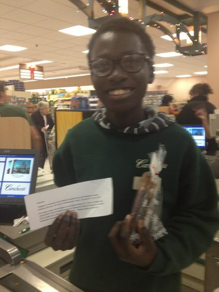25 of #26Acts is this cheerful young man working at Caraluzzi's market in CT.  In Memory of Jesse #sandyhook http://pic.twitter.com/iU9gcFsX