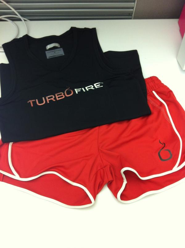 Follow @TurboFire and RT for a chance to win our TF Black Sleeveless Tee & Red Shorts! http://t.co/RYKqokHX #contest http://t.co/X8OsG6rP