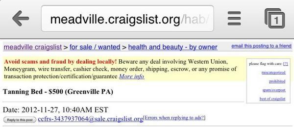 Meadville craigslist