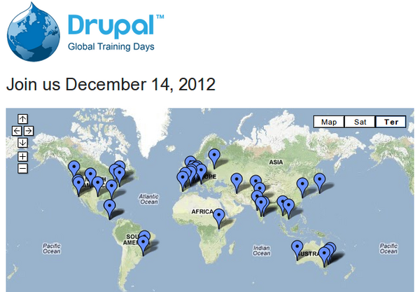 Our Global Training Day to #LearnDrupal is drawing to a close - but it's just getting started in other places http://pic.twitter.com/4q9bF3IE