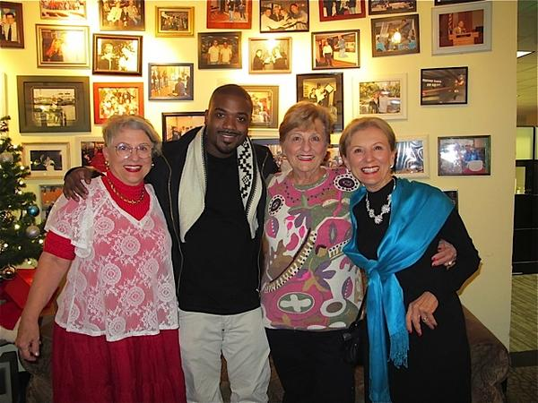 3 golden sisters on twitter we met rayj hes going to watch us on