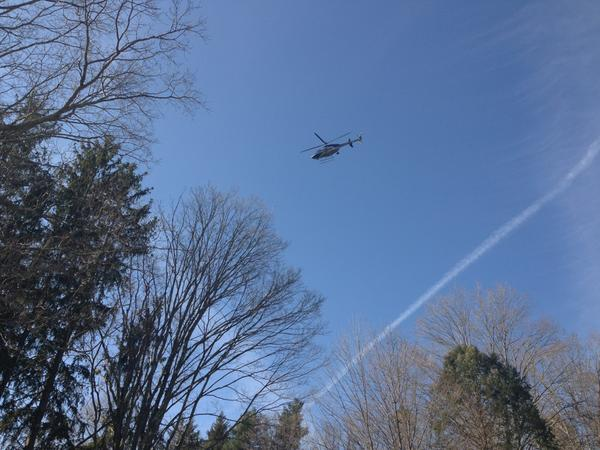 State Police helicopter circling low in Newtown #schoolshooting http://pic.twitter.com/wVxy8sBn