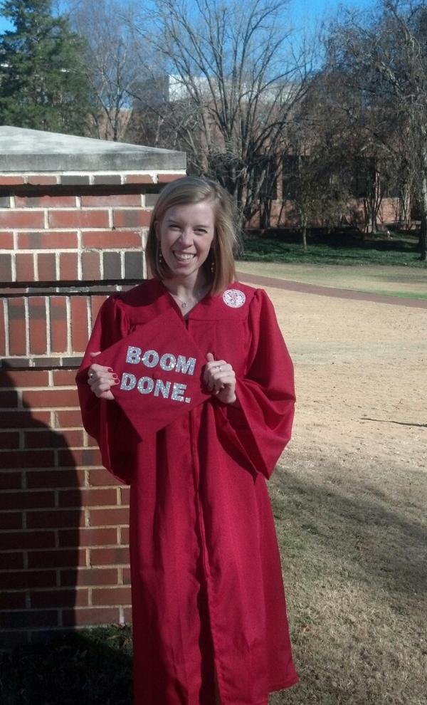 #NCState winter grads are all around campus taking pics in their gowns before tomorrow's commencement- #Congrats #Done http://pic.twitter.com/F7gIlbMD