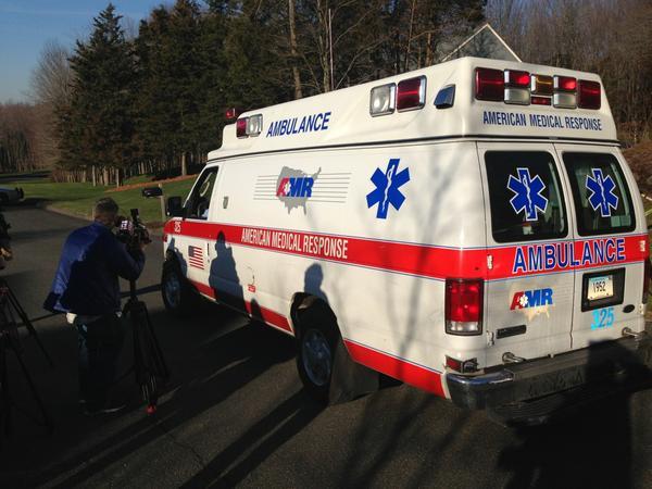 Ambulance arriving at scene of suspected gunman's' home http://pic.twitter.com/ke6bV0lS
