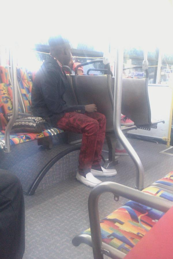 Simply Keri On Twitter This What You See On The Bus And He Got Two Big Ass Fake Diamond Earrings On Both Sides Of His Nose Http T Co Mfufqdfx