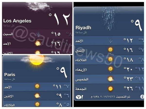 درجة الحرارة بالرياض