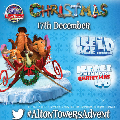 Ice Age A Mammoth Christmas.Alton Towers Resort On Twitter Day 17 Of The