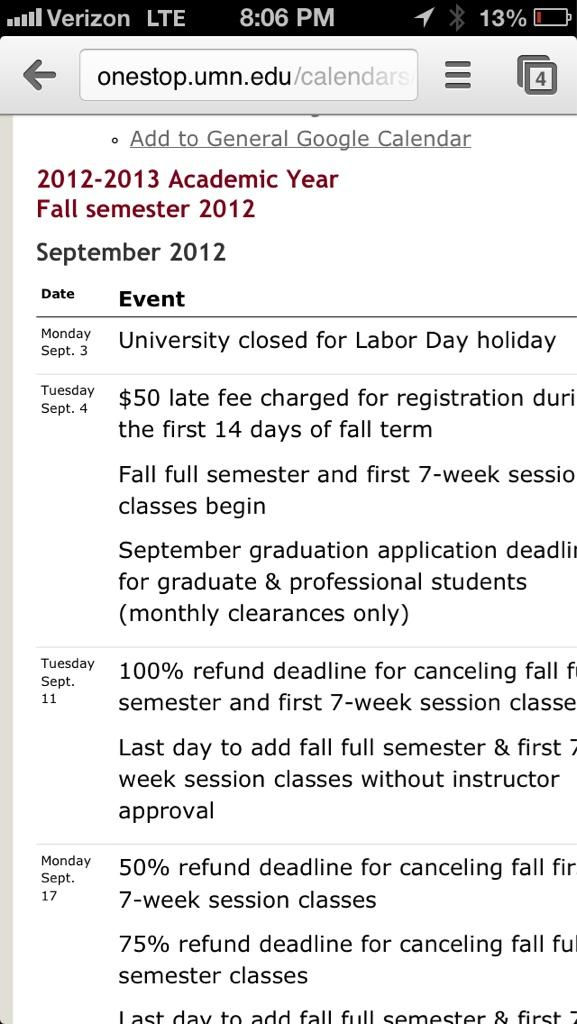 Umn Academic Calendar.University Of Minnesota On Twitter Kevincwalkerus Sorry About