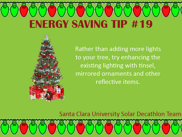 Don't add more lights to your tree enhance the existing ones with tinsel and other reflective items! #tipsEnergy http://pic.twitter.com/6UfDCiZK