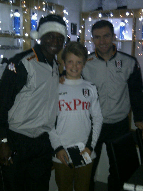 Thanks @FulhamFC for a great night at the Cottage, it goes a long way for the next generation of fans http://pic.twitter.com/46HacYs7