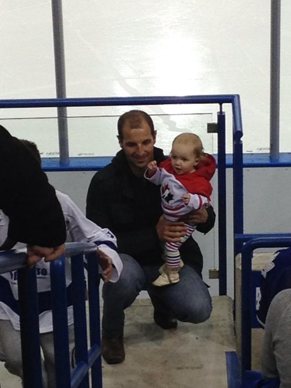 Cutest/youngest fan award! #RBCCharityChallenge @RBCPlayHockey http://pic.twitter.com/fWqkNR62
