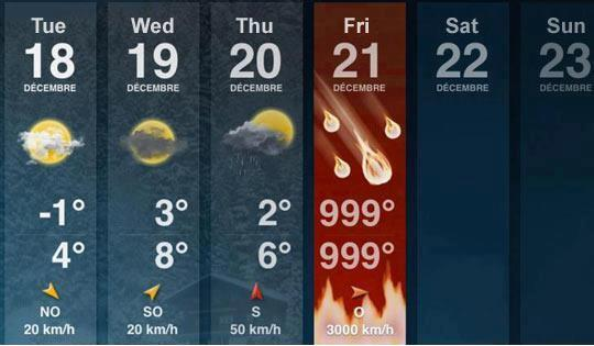 Weather forecast for #Doomsday http://pic.twitter.com/kUlEEOes