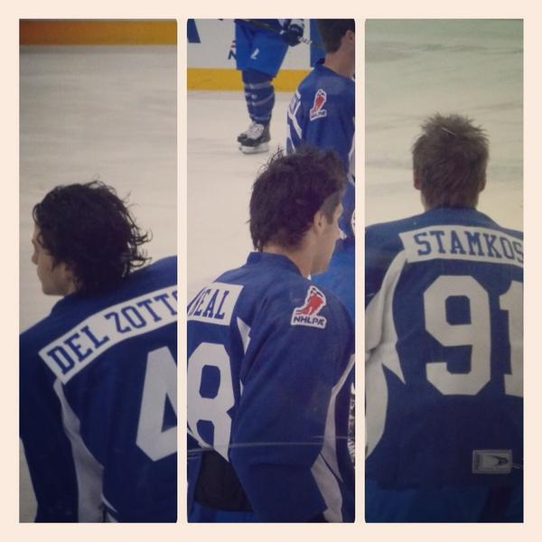 Hockey hair perfection. #RBCCharityChallenge http://pic.twitter.com/94TEDnBT