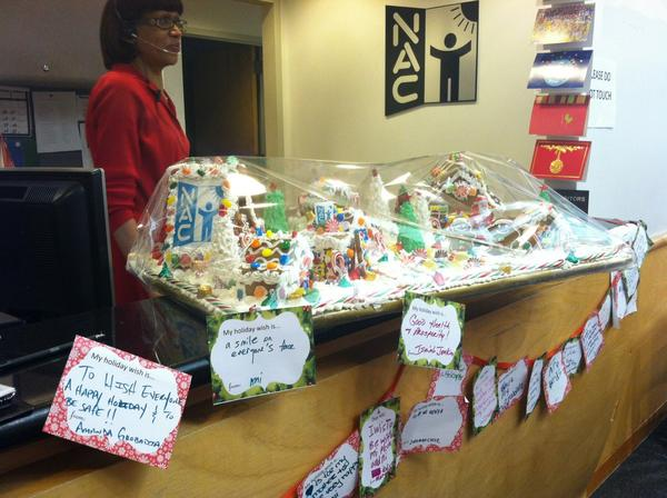@WSJNY our reception w gingerbread village & holiday wishes from kids we serve! http://pic.twitter.com/TIZmwE94