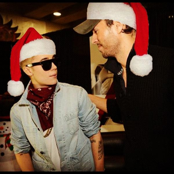 Good seeing you at Jingle Ball… Happy Holidays to you and all the #Beliebers @justinbieber http://t.co/aQa9XgwA