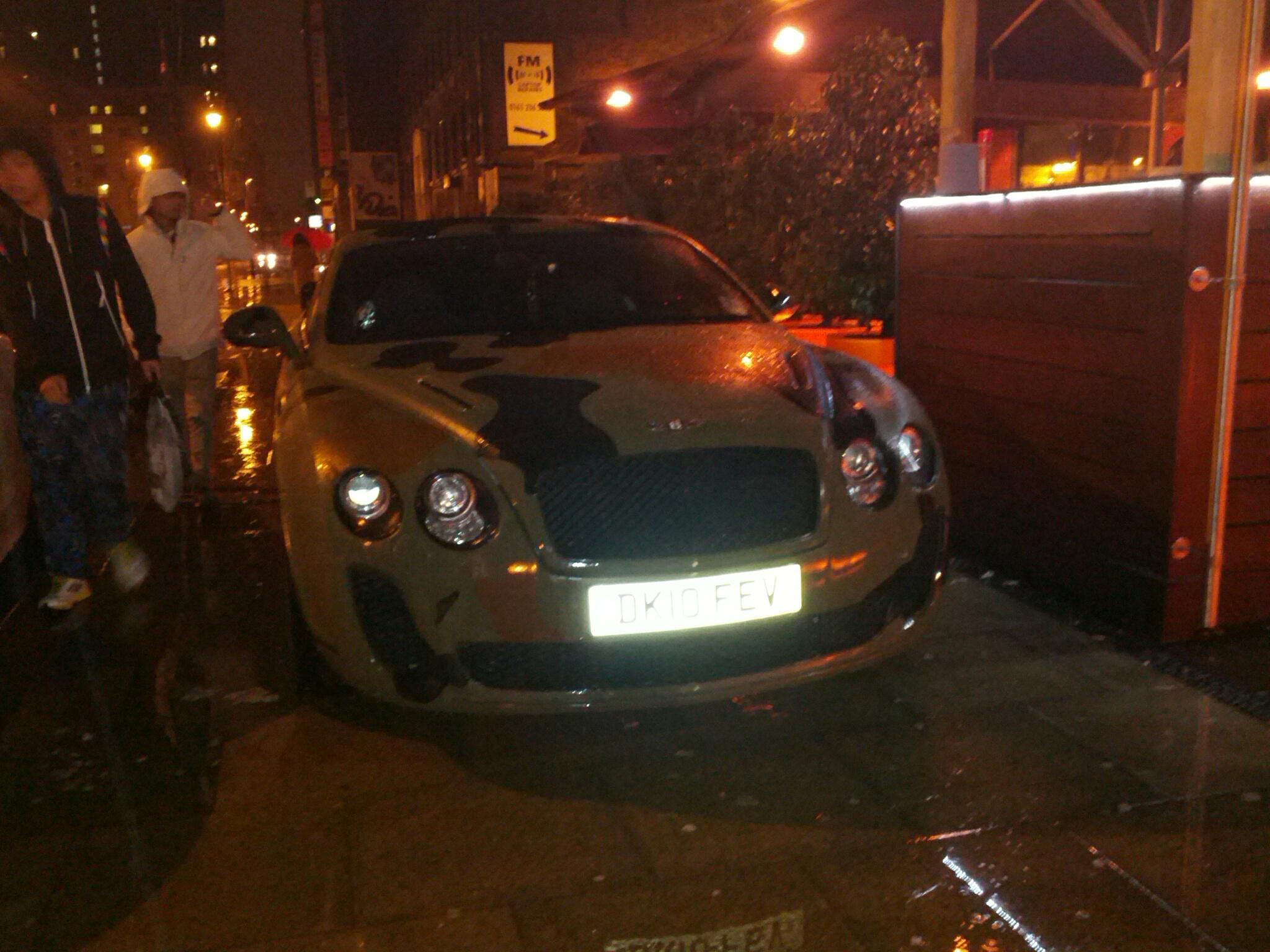 EXCLUSIVE Pictures: Police speak to Mario Balotelli after he parks on the pavement