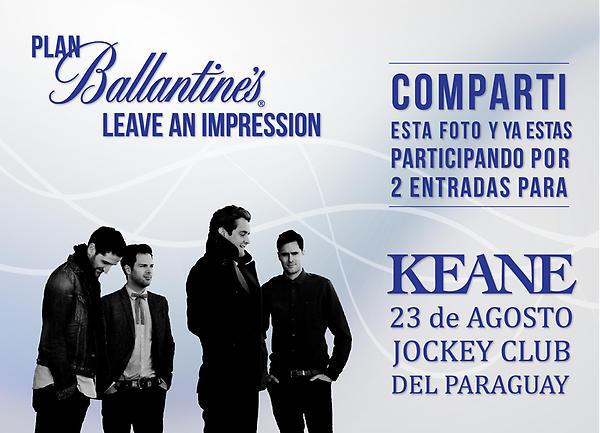 Hoy sorteamos 5 pares de entradas para #KEANE en nuestra fan page, #Ballantines, http://t.co/4vDvyyOA http://t.co/WqJnwU7m