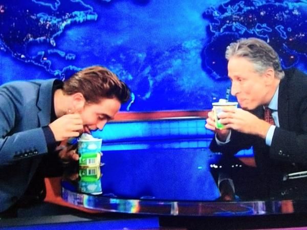 Knew it would be done... just didn't think it'd be so soon!! Rob licking up his ice-cream - enjoy!  ;) http://t.co/526bQb0D