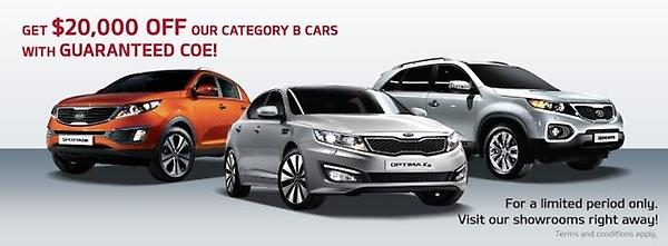 $20k off Cat B cars @ Kia Singapore for a limited time only. Visit our showrooms for more details. http://t.co/6jV0F4IA