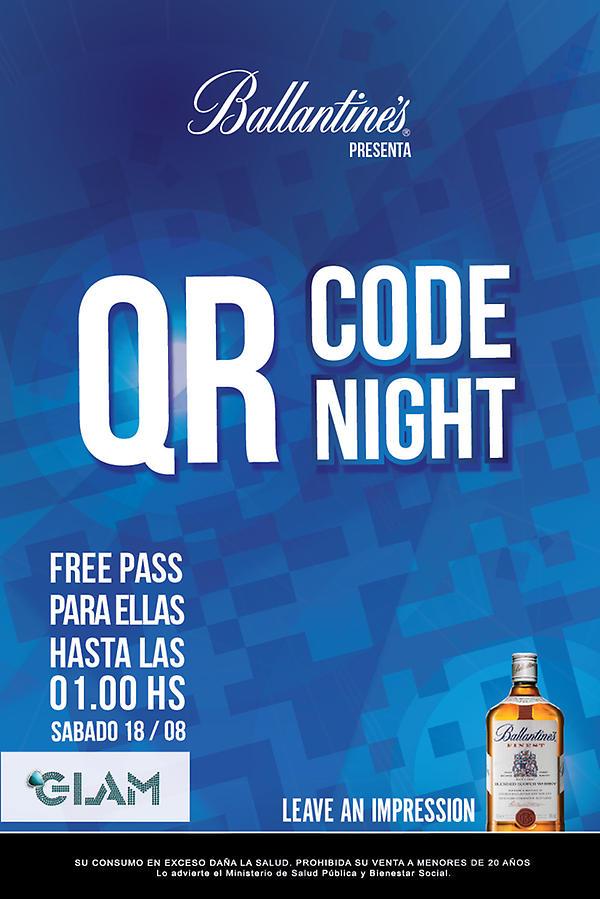 Se viene QR Code Night en #Glam, invita #Ballantine´s http://t.co/iyIjdypX