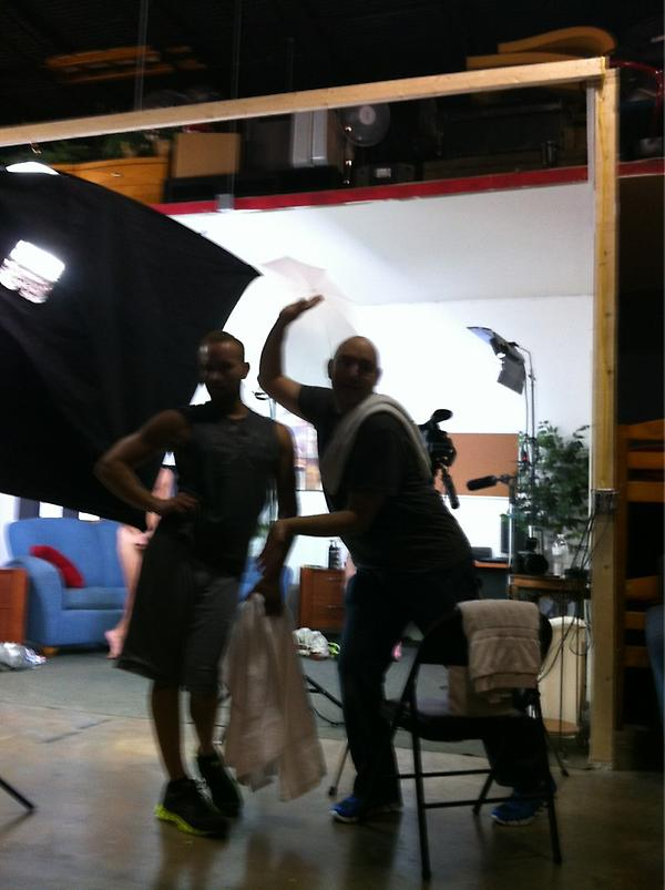 W/@Stevenponcepr and @GioCaruso behind the scene queens. http://t.co/TpWGfrWT