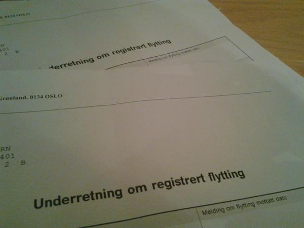 registrere flytting