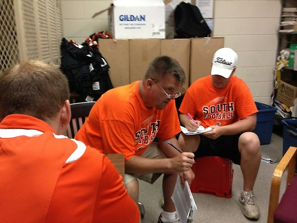 Nothing fancy used for selecting South HS fball varsity starters. Notes on 8x11, a quick yes & no. #savesouth #mshsl http://pic.twitter.com/tkdcZz0Q