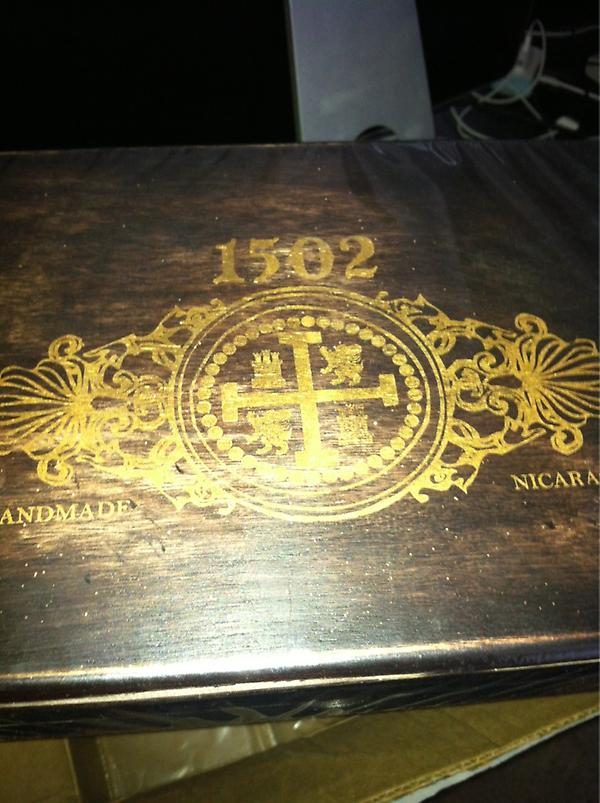 I never win anything. But I did win this... Thank you @1502cigars http://t.co/u0CvdAeB