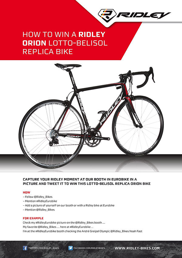 Ridley Bikes On Twitter Want To Win A Ridley Orion Team Replica